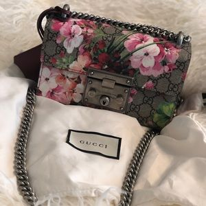 Gucci Blooms padlock Shoulder Bag